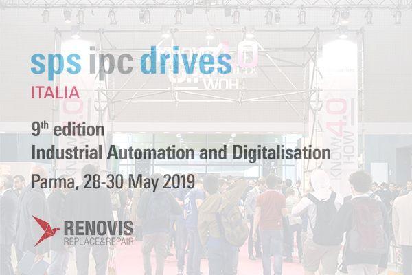Renovis ti aspetta dal 28 al 30 maggio a Parma, presso la Fiera SPS IPC Drives Italia 2019